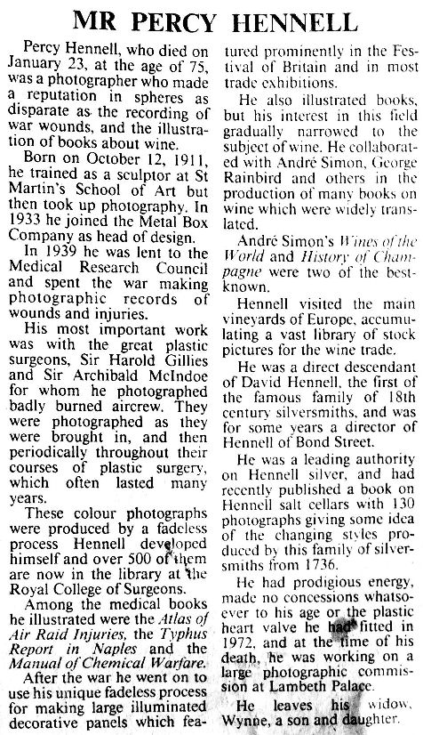 hennell obituary